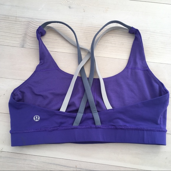 2e4d36607d lululemon athletica Other - Lululemon sz 8 Energy Bra Iris Flower Strappy
